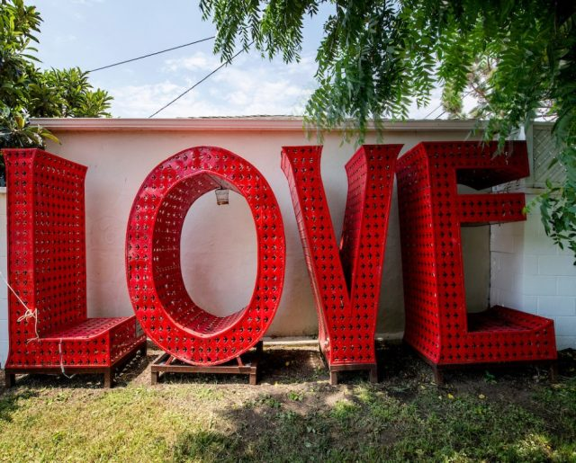 Iconic Burning Man LOVE Art Comes With Charming Venice House!
